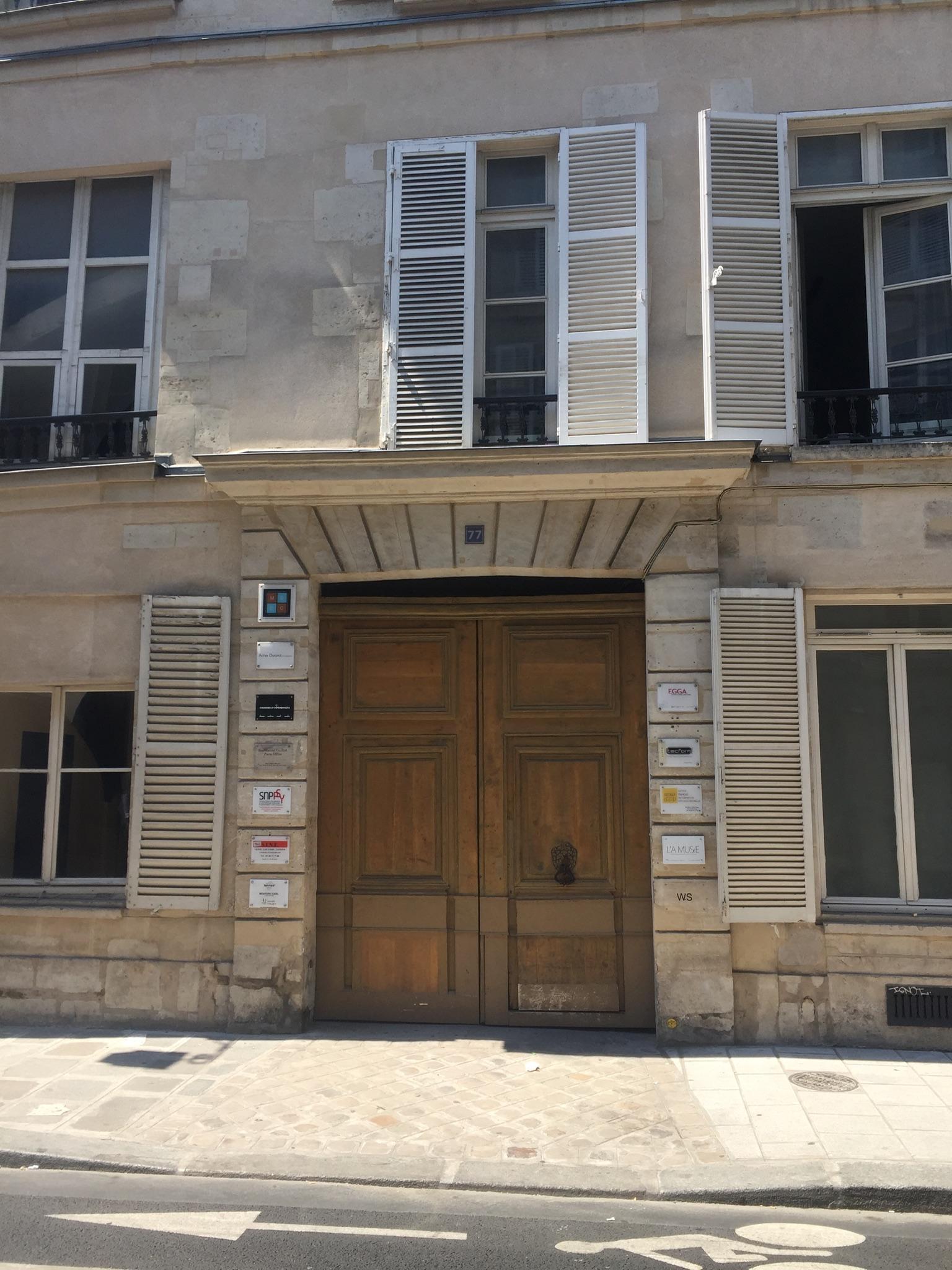 Nouveau cabinet Paris Marais